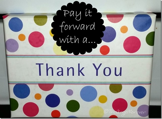 Pay it forward with a thank you