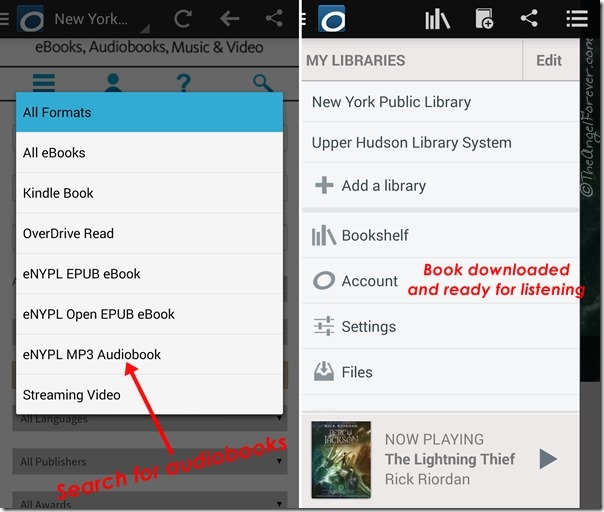 OverDrive media player to help with school reading