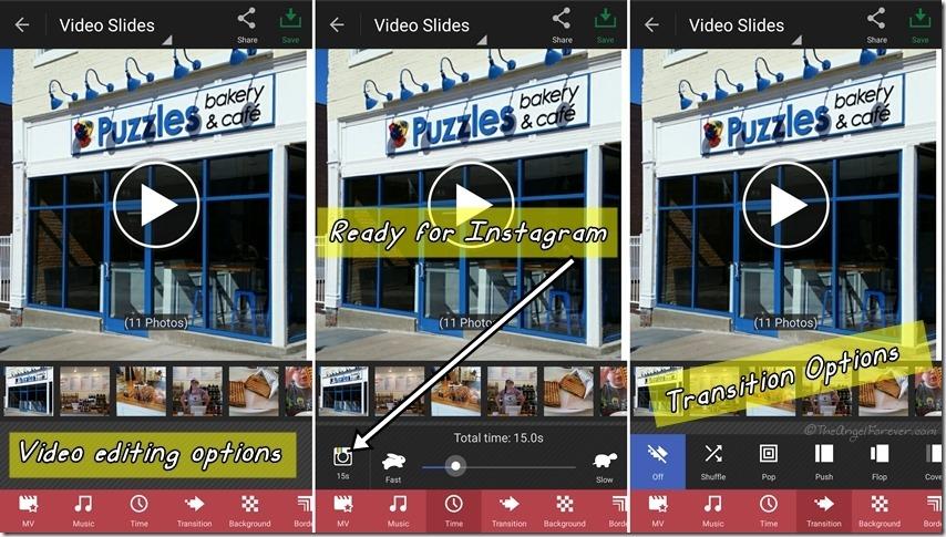 Editing VideoSlide on PhotoGrid App