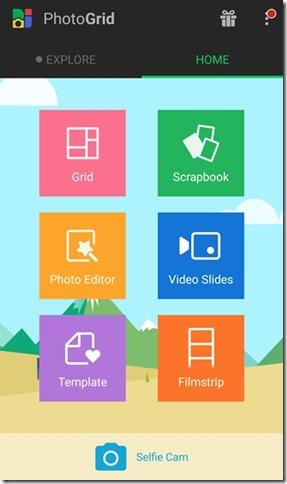 PhotoGrid App Options