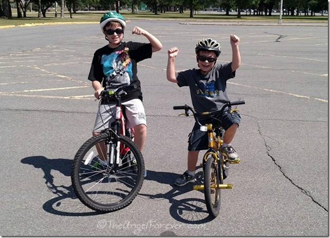 Birthday Boy and Brother on Bikes