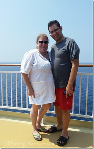 TechyDad and Moi on the Norwegian Gem