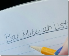 Bar Mitzvah List
