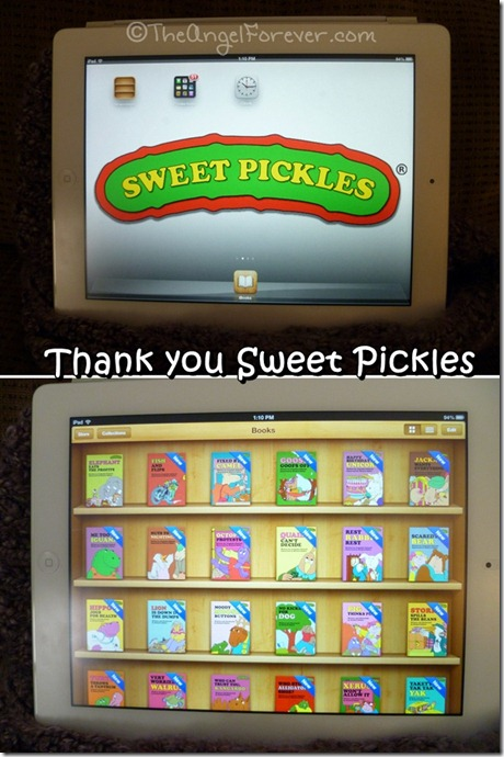 Thank you to Sweet Pickles