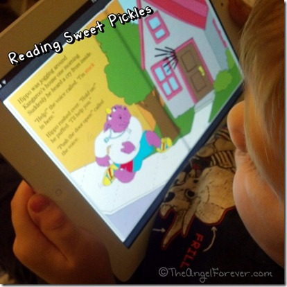 Sweet Pickles Reading on the iPad