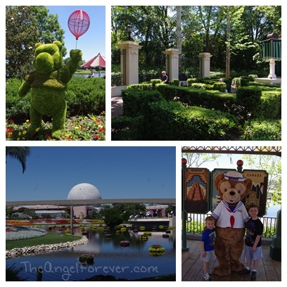 Walking around Epcot