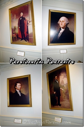 Presidential Portraits inside The Hall of Presidents at Walt Disney World