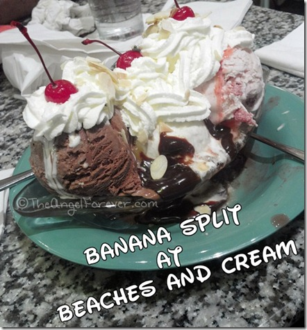 Banana Split at Beach and Cream at the Beach Club Resort