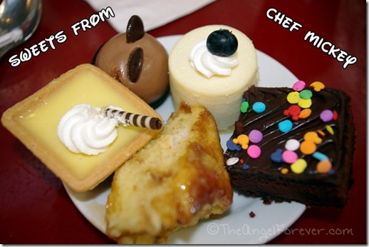Dessert items at Chef Mickey