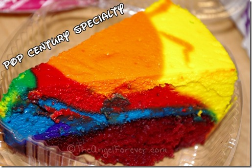 Disney's Pop Century Resort Tie Dye Cheesecake