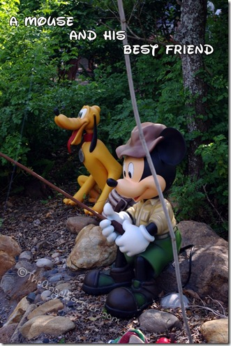 Mickey Mouse and Pluto Fishing at Animal Kingdom