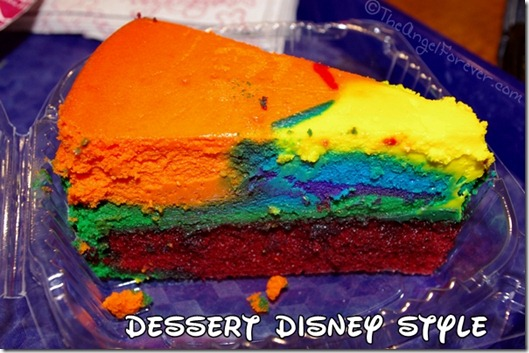 Pop Century Tie Dye Cheesecake
