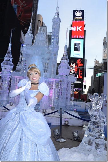 Disney Parks Builds Giant Ice Castle in Times Square to Announce 'Limited Time Magic' for 2013
