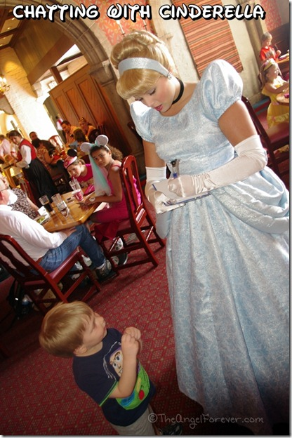Cinderella at Askerush Dining Hall in Epcot