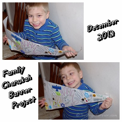 Chanukah Family Banner Project