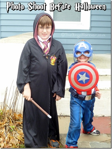 Captain America and Harry Potter Halloween costumes