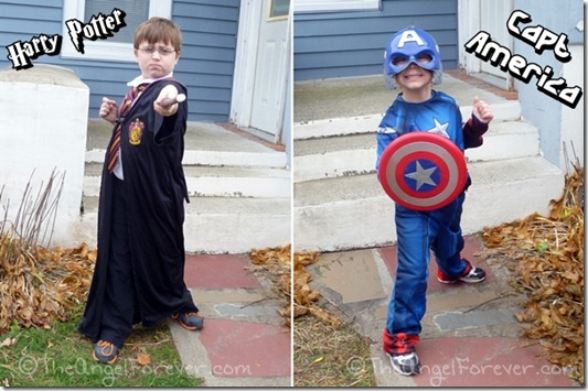 Harry Potter and Captain America for Halloween