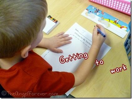 Kindergarten Kid Picture for Teacher