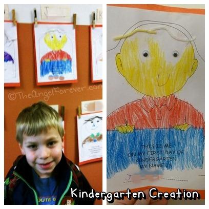 First Day of Kindergarten Art