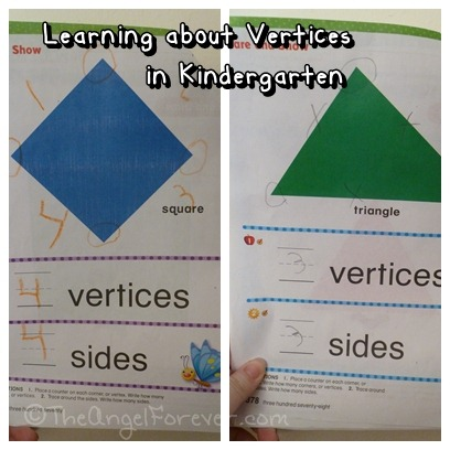Kindergarten math - learning about vertices