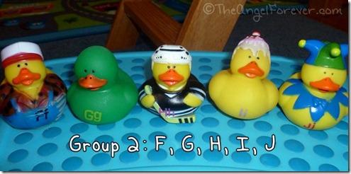 Alphabet Ducks F G H I J