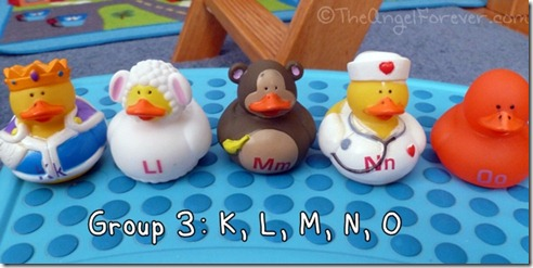 Alphabet Ducks K L M N O
