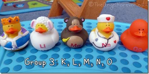 Alphabet Ducks K L M N O