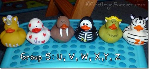 Alphabet Ducks U V W X Y Z