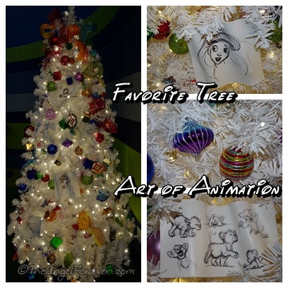 Christmas tree at Disney&#039;s Art of Animation Resort