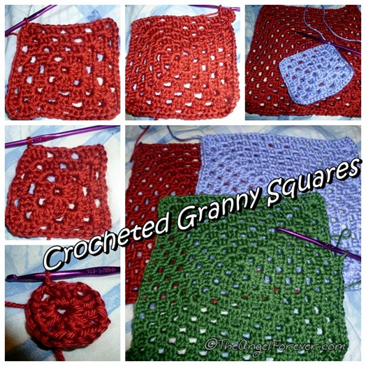 Making Crocheted Granny Squares