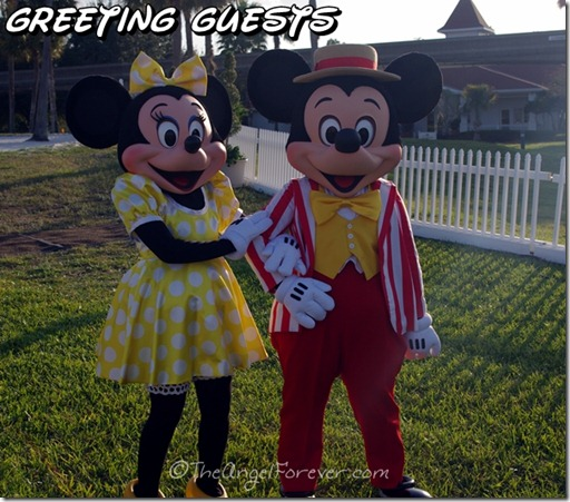 Mickey and Minnie Greet Guests