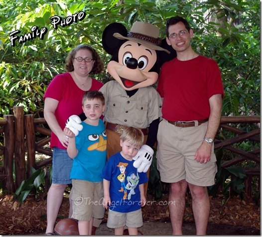Family Photo with Mickey at Animal Kingdom