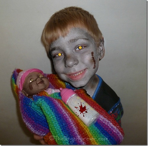 My Zombie kid and his baby