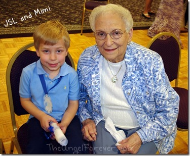 With his great grandmother