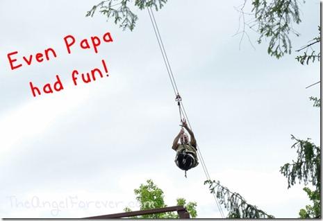 Papa had fun too