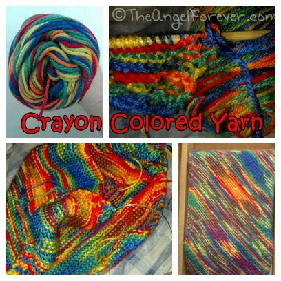 Crayon color yarn blanket