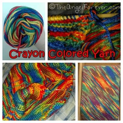 Crayon color yarn blanket