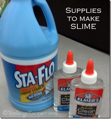 Supplies to make slime