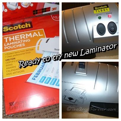Getting Laminator Ready