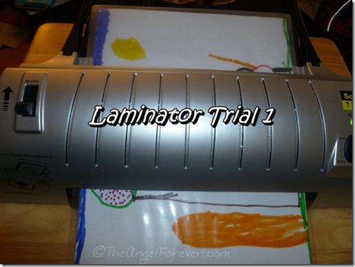 Scotch Laminator Testing