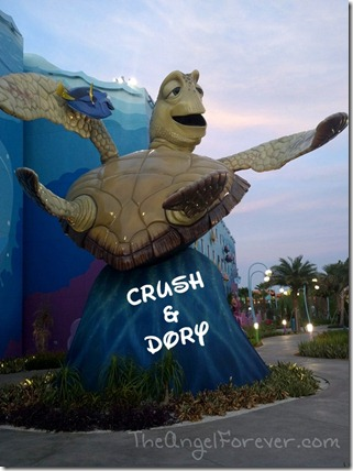 Crush and Dory at Art of Animation Resort