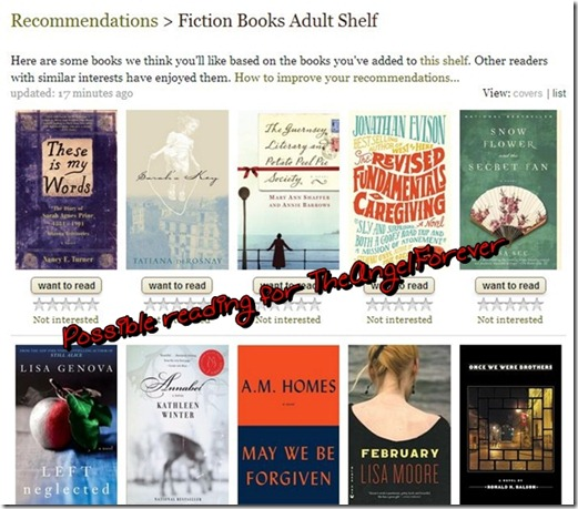 Book Recommendations on Goodreads