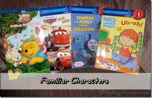 Familiar characters in early readers