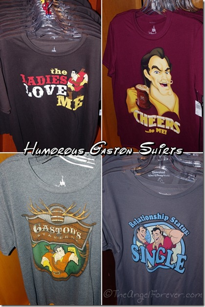 Gaston Shirts in New Fantasyland