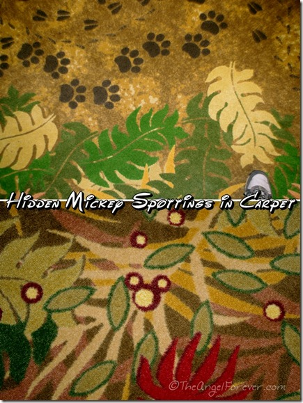 Hidden Mickey in Carpet at Art of Animation