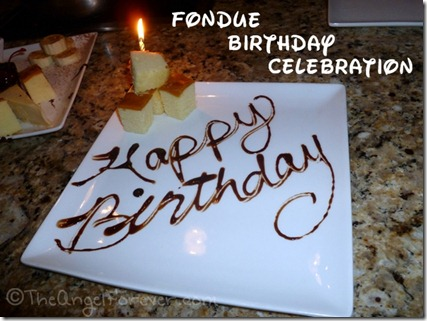 Fondue birthday celebration