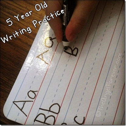 Writing Practice before kindergarten