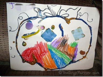 Kindergarten Pumpkin Art