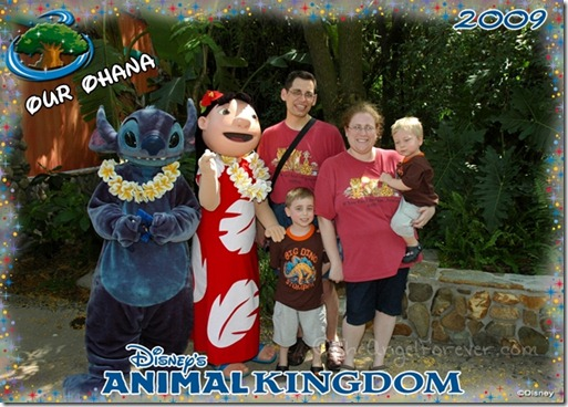 Our Ohana with Lilo and Stitch at Animal Kingdom