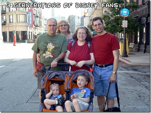 Three generations of Disney fans